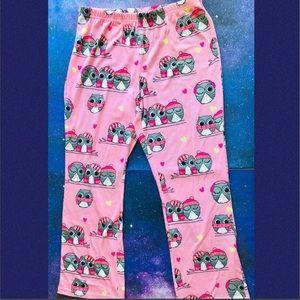 Justice Girls Size 14/16 Owl PJ Bottoms